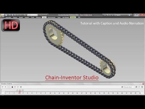 Chain-Inventor Studio (Video Tutorial with Audio Narration) Autodesk Inventor