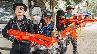 LTT Game Nerf War : Winter Warriors SEAL X Nerf Guns Fight Criminal Group Rocket Search Arsenal
