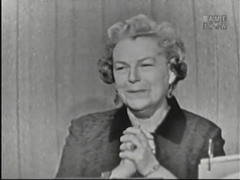 What's My Line? - Gracie Fields; Martin Gabel & Dana Wynter [panel] (Apr 27, 1958)