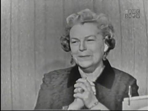 What's My Line?  Gracie Fields; Martin Gabel & Dana Wynter panel Apr 27, 1958