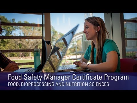 NC State Food Safety Manager Certificate Program Overview