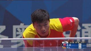 世界卓球2018 男子決勝 中国vsドイツ 第1試合 馬 龍vsボル