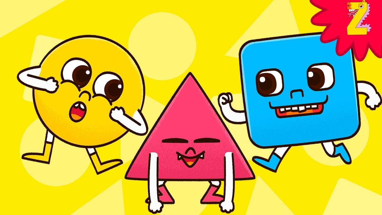 Shapes Song - Circle Triangle Square! Learn English Vocabulary for toddlers! Educational Video