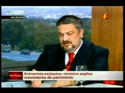 Palocci - Íntegra da entrevista ao Jornal Nacional - 03/06/2011 (1ª parte)