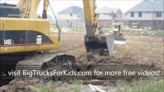 Dump Truck & Digger at Work for Kids