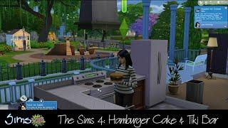 The Sims 4: Hamburger Cake & Tiki Bar