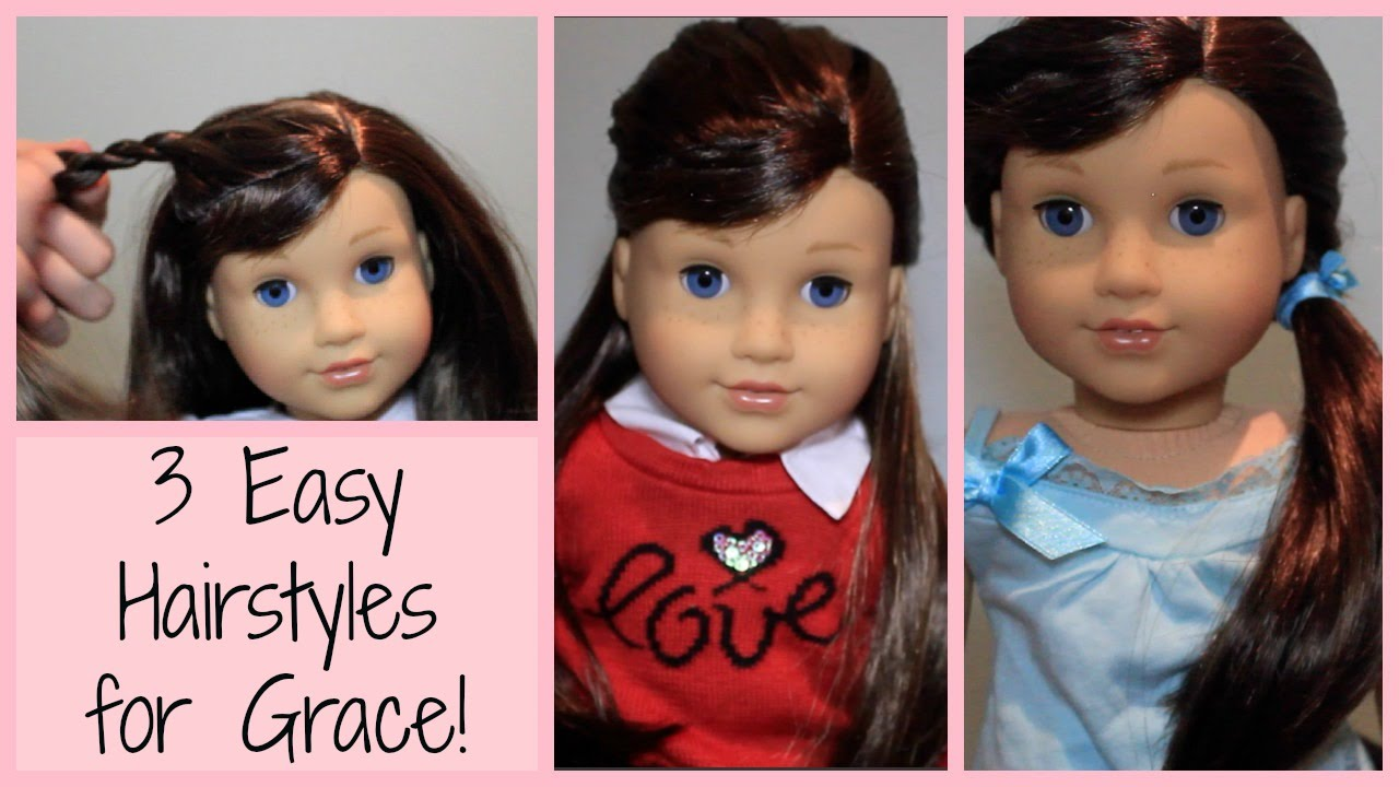 Easy Hairstyles For Grace GOTY YouTube - Doll hairstyles for grace