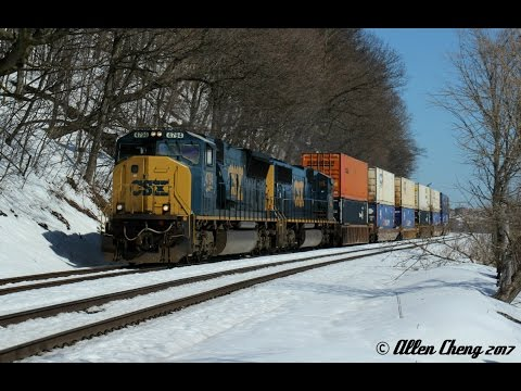 A Nice Day Trip on the CSX River Line's Mid to Upper Section - 3/19/2017