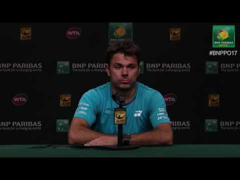 BNP Paribas Open 2017: Stan Wawrinka 3R Press Conference