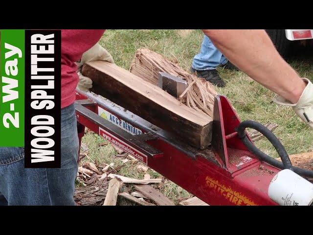 SPLIT-FIRE WOOD SPLITTER REVIEW- 2WAY SPLITTER