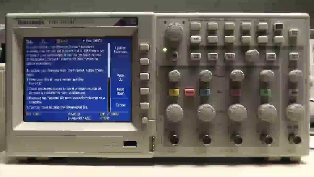 How Do I Update The Firmware On My Tds2000 Series Oscilloscope Tektronix