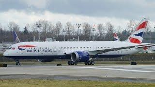 British Airways 787-9 (G-ZBKF) First Flight @ KPAE
