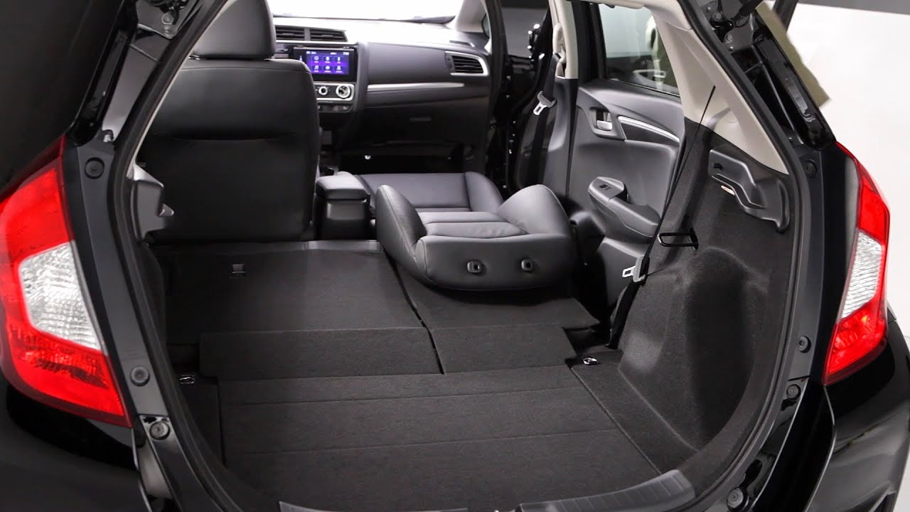 honda fit 2015 seating configurations youtube. Black Bedroom Furniture Sets. Home Design Ideas