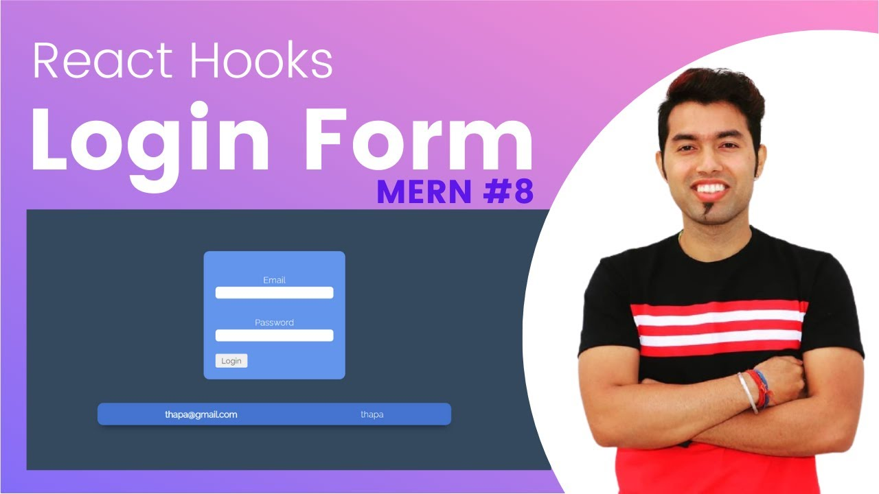 Create Login Form with React  | Handling Basic Form with React Hook