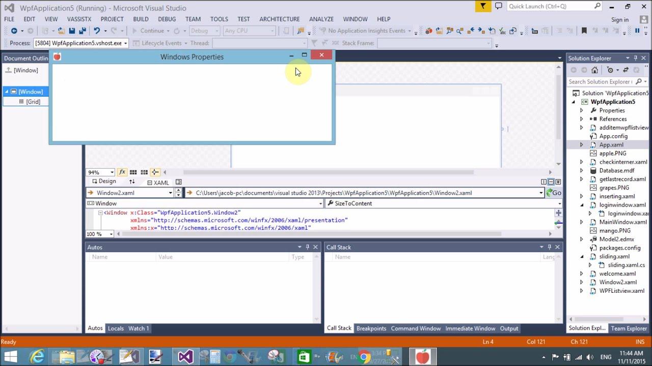 Window attributes Icon, ResizeMode, TopMost, WindowState, etc in WPF