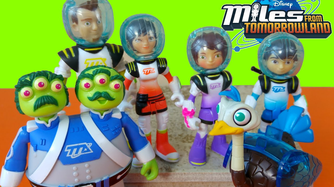 6pcs set Miles From Tomorrow land Missions Figures Miles Watson and crick Merc
