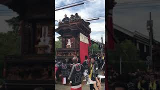 第8回 はんだ山車まつり 2017 JR武豊線 踏切を渡る Handa dashi matsuri(Solder floats festival),aichi,japan