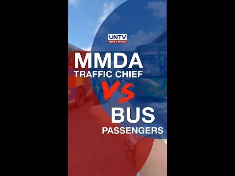 Bus passengers curse MMDA Traffic Chief Bong Nebrija for issuing violation tickets