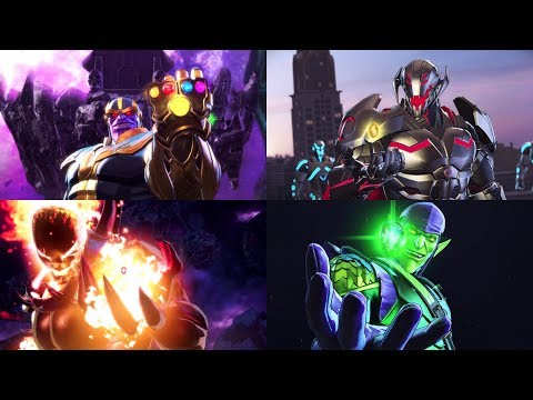All Infinity Stone Boss Battles - Marvel's Ultimate Alliance 3