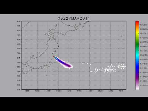 24.03.2011. Fukushima. Cs137 transport. 5 days forecast.