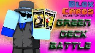 Roblox: Blox Cards   Green Deck Battle (I REKT THEM)