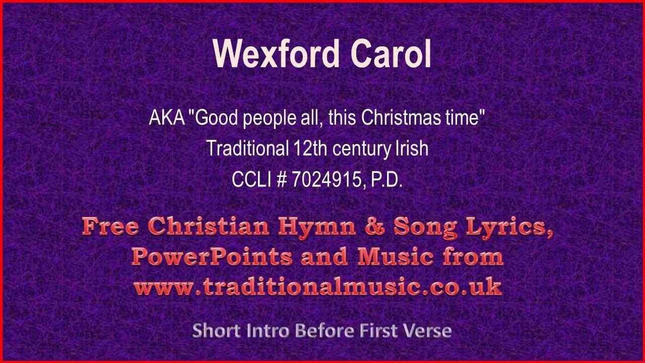 Wexford Carol - Christmas Carols Lyrics & Music - YouTube