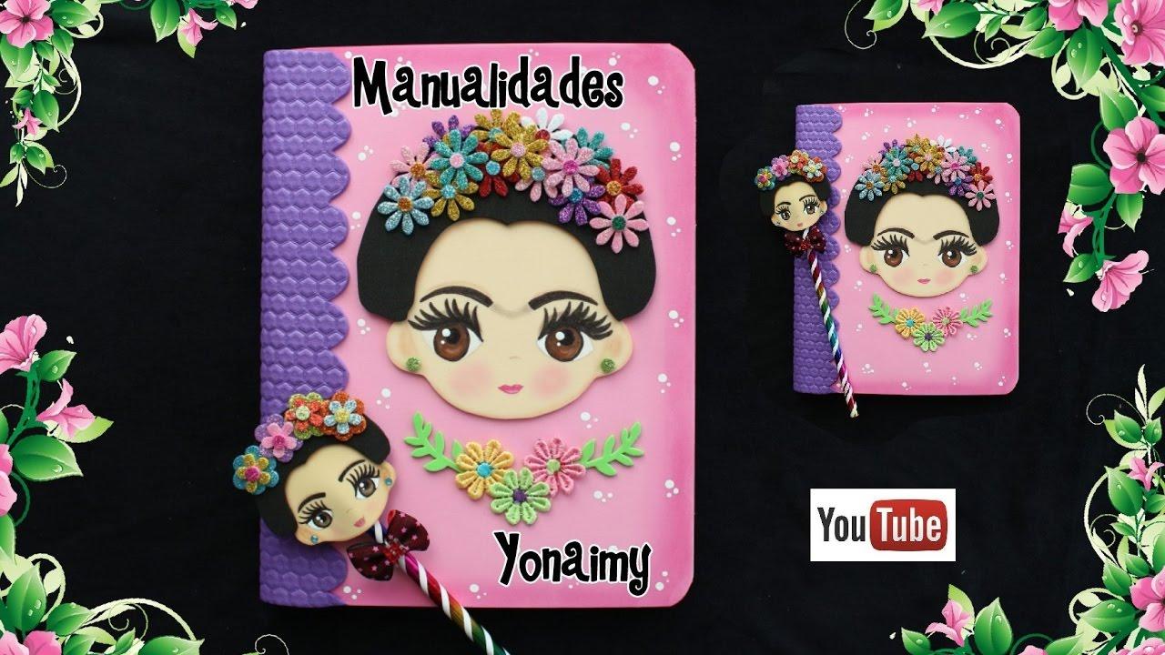 Libreta y lapiz decorado de frida kahlo youtube for Cuartos decorados de frida kahlo