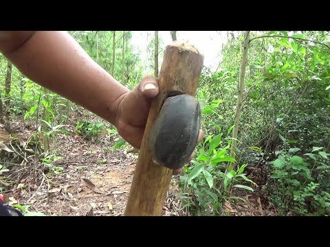 Primitive Technology:Used-Build stone Axe-Primitive Life!