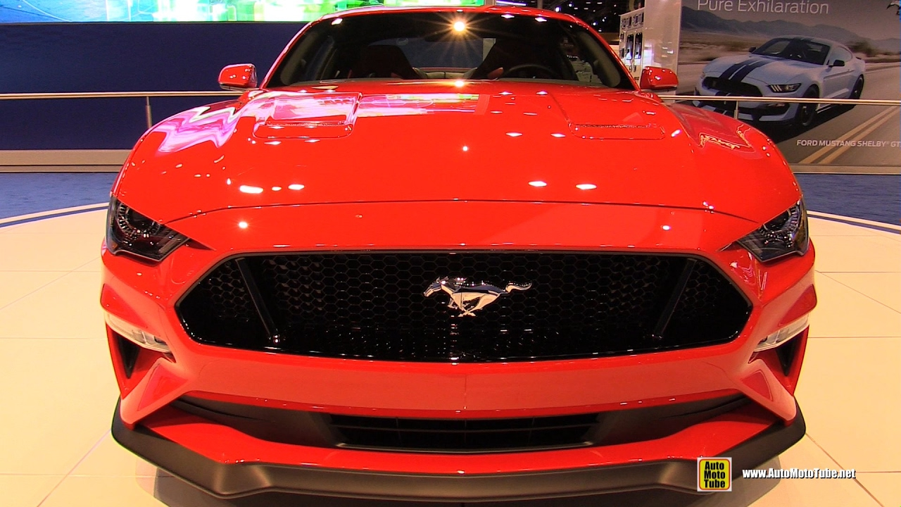 2018 ford mustang walkaround debut at 2017 chicago. Black Bedroom Furniture Sets. Home Design Ideas