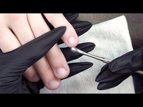 СЛОЖНЫЙ МАНИКЮР! Классический мужской маникюр на обкусанных ногтях