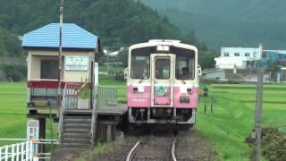 【HD・警笛】由利高原鉄道「ゆりてつ」ラッピング車@曲沢駅