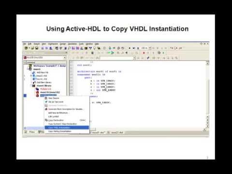 Lesson 19 - VHDL Example 7: 4-to-1 MUX - port map statement
