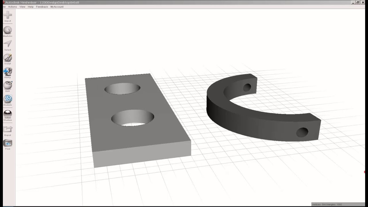 Meshmixer: Fill Holes in an STL File – Drafting, Modeling and 3D