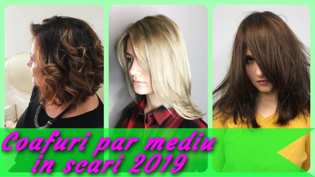 Top 20 Idei De Coafuri Par Mediu In Scari 2019 Youtube