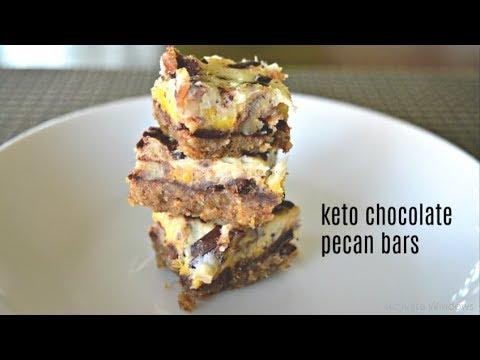 Keto Chocolate Pecan Bars | Keto Dessert | Keto Recipes | Low Carb recipe | Gluten-free