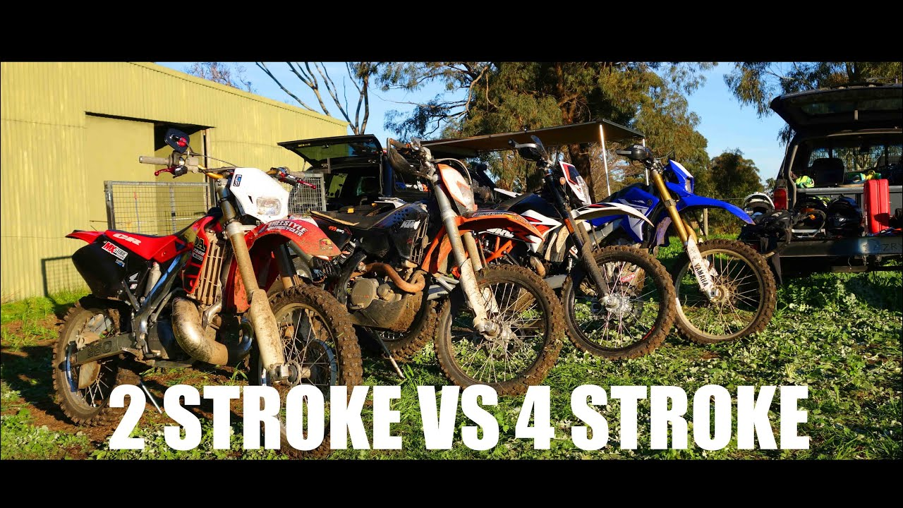 2 Stroke 250 vs 4 Stroke 450 Dirtbikes! - YouTube