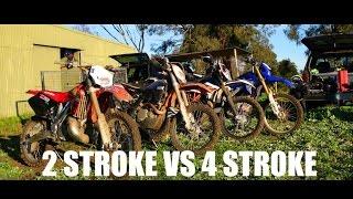 2 Stroke 250 vs 4 Stroke 450 Dirtbikes!