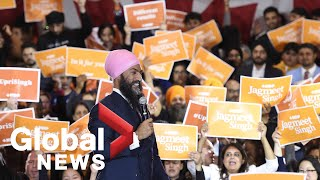 Canada Election: Jagmeet Singh holds rally in Brampton, Ont.