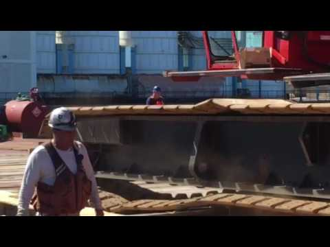 Sterling Equipment--Walking a 300 Ton Crane onto a Barge
