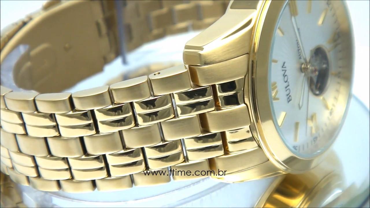 3a6cfce5b04 Relógio Bulova Automatic 21 Jewels WB32004H - YouTube