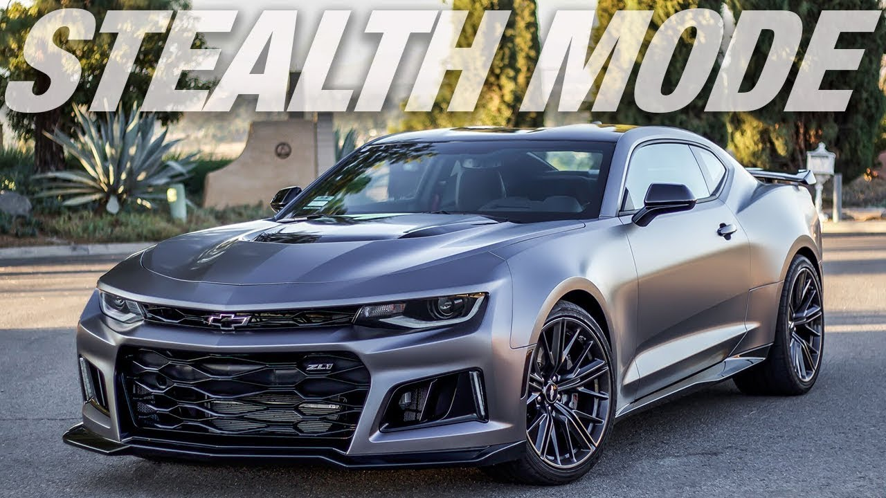 Quot Stealth Mode Quot 2017 Chevrolet Camaro Zl1 Vinyl Wrap Youtube