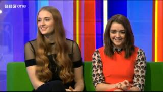 Maisie Williams and Sophie Turner on The One Show