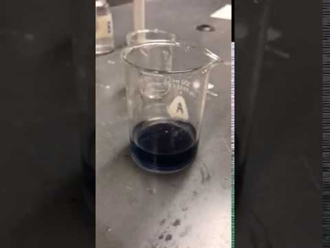 Iodine clock reation rate lab slow motion