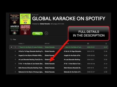 90 Karaoke Songs Snippets - Global Karaoke - Spotify Playlist