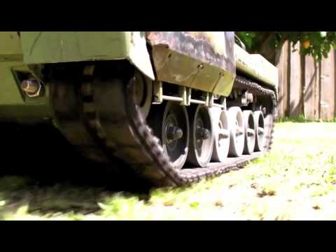 RC steel uber tank 1/10 scale - suspension test 2