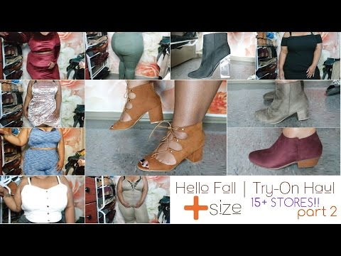 Hello Fall part 2 | Try-On Haul | 15+ Stores! | Plus Size 2016
