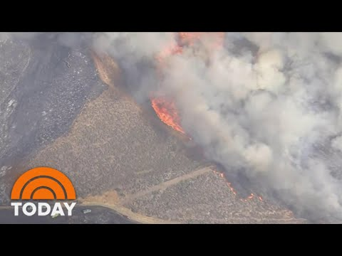 Massive California Brushfire forces 200 To Flee | TODAY