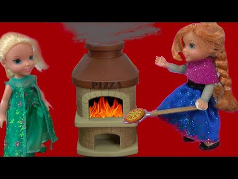 Thumbnail: Elsa and Anna toddlers at the pizzeria with My little pony