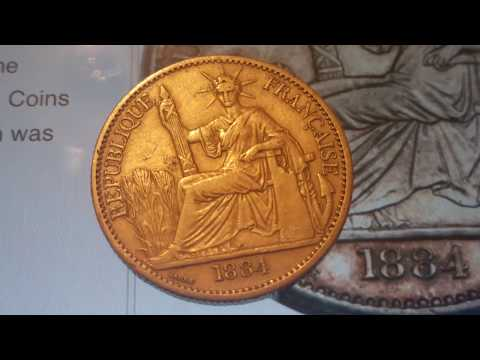 9800$$$ Rare French Cochin China 1884-A 50 Cent Coin Numismatics