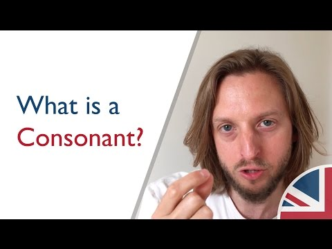 What is a consonant